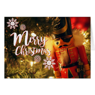 Merry Christmas Nutcracker Greeting Card