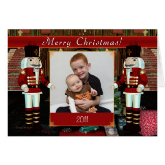 Merry Christmas Nutcracker Photo Card