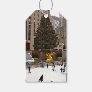 Merry Christmas NYC Rockefeller Center Tree Tags