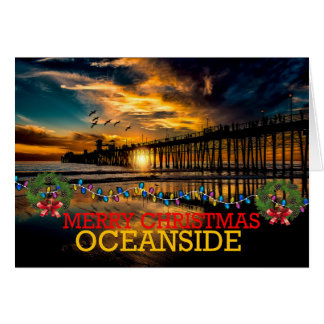 Merry Christmas Oceanside Card