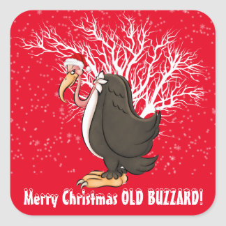 Merry Christmas old buzzard sticker