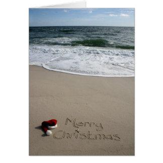 Merry Christmas on the Beach Ocean Starfish Card