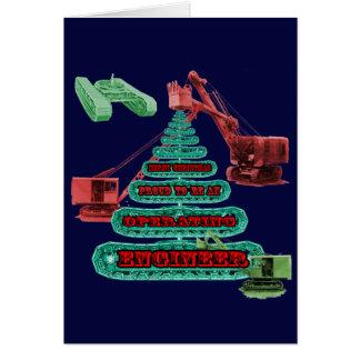 MERRY CHRISTMAS OPERATING ENGINEER CRANE OPERATOR CARD