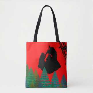 MERRY CHRISTMAS OPERATING ENGINEER CRANE OPERATOR TOTE BAG