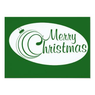 "Merry Christmas ornament 5"" X 7"" Invitation Card"
