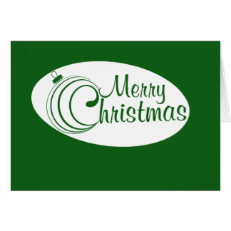 Merry Christmas ornament Cards