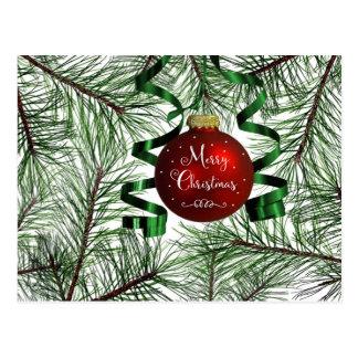 Merry Christmas Ornament Holiday Postcard
