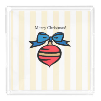 Merry Christmas Ornament LG Perfume Serving Tray Y