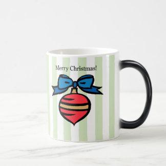 Merry Christmas Ornaments Morphing Green & Blue Magic Mug