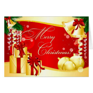 Merry Christmas Ornaments Presents Card