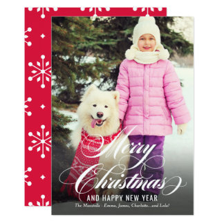 Merry Christmas Overlay | Holiday Photo Card