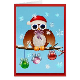 Merry Christmas Owl Card