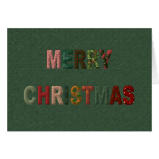Merry Christmas Padded Letters Card