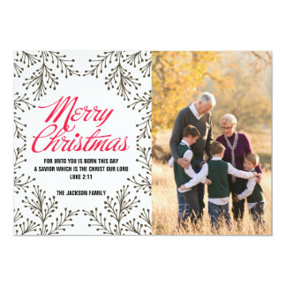 Merry Christmas Paper Photo Card