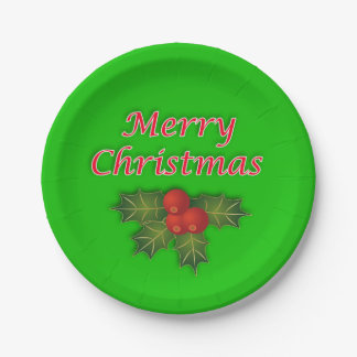 Merry Christmas paper plates. Paper Plate