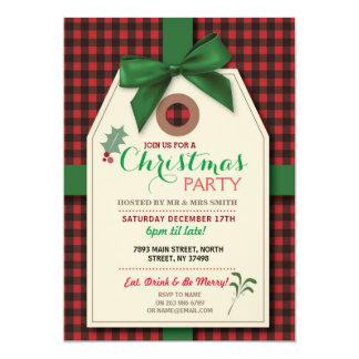 Merry Christmas Party Tag Check Xmas Invite