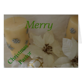 Merry Christmas Pastor Card