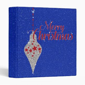 "Merry Christmas Patriotic Glitter 1"" Binder"