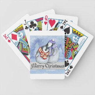 Merry Christmas Penguin Watercolor Card Winter