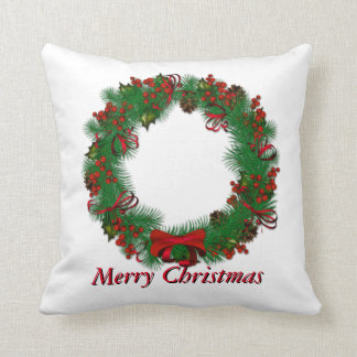 Merry Christmas Personalize Throw Pillow