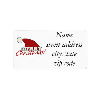 Merry Christmas Personalized Address Label
