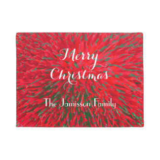 Merry Christmas Personalized Door Mat Doormat