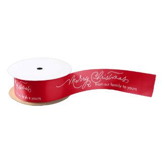 Merry Christmas Personalized Ribbons Satin Ribbon