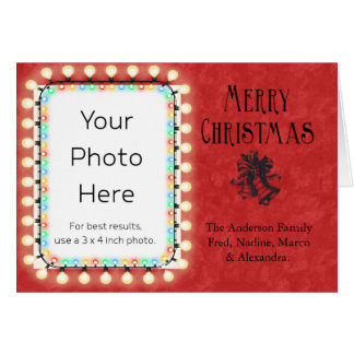 Merry Christmas Personalized with Bells Greeting Card