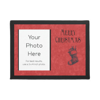Merry Christmas Personalized with Stocking Doormat