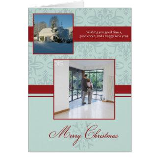 Merry Christmas Photo Card Double Mint