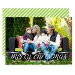 "Merry Christmas Photo Card | White Script Overlay 5"" X 7"" Invitation Card"