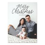 "MERRY CHRISTMAS photo christmas greeting card 5"" X 7"" Invitation Card"