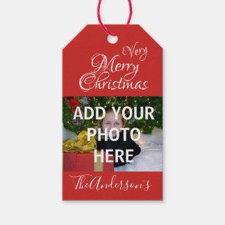 Merry Christmas Photo Gift Tags