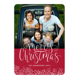 Merry Christmas Photo Greeting Card 2017