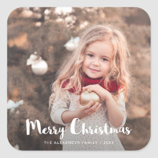 Merry Christmas Photo Typography Sticker