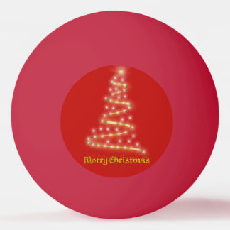 Merry Christmas Ping Pong Ball