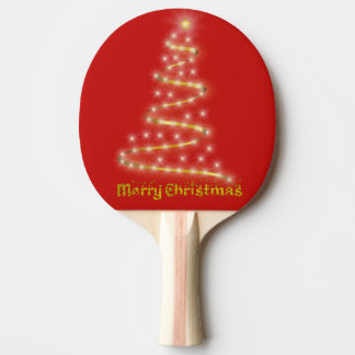 Merry Christmas Ping Pong Paddle