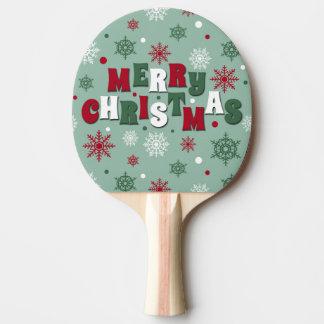 Merry Christmas Ping Pong Paddle