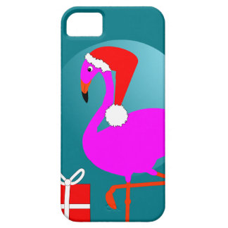 Merry Christmas Pink Flamingo Cute Trendy Graphic iPhone 5 Case