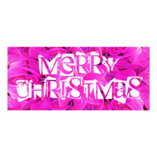 Merry christmas Pink rack card