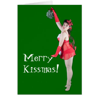 Merry Christmas Pinup Card