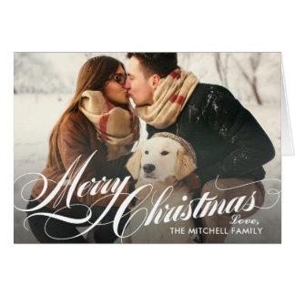 Merry Christmas | Plaid Holiday Photo Card