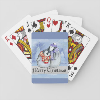 merry christmas playing cards