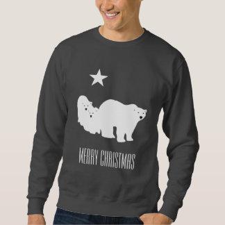 Merry Christmas Polar Bears Men's Sweat Shirt