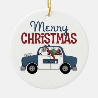 Merry Christmas Police Ornament