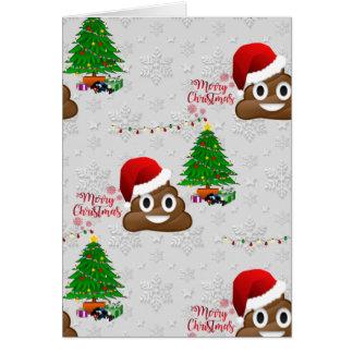 merry christmas poo emoji card
