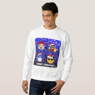 Merry Christmas poop/Santa/Penguin Emoji Fun Sweatshirt