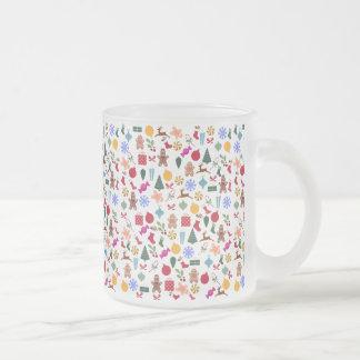 Merry Christmas Print 10 Oz Frosted Glass Coffee Mug