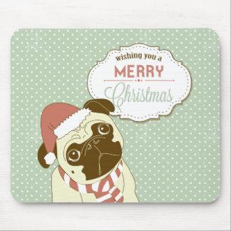Merry Christmas Pug Mousepad