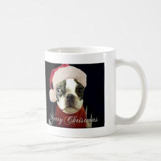 merry christmas PUG SANTA HAT LOOK Coffee Mug